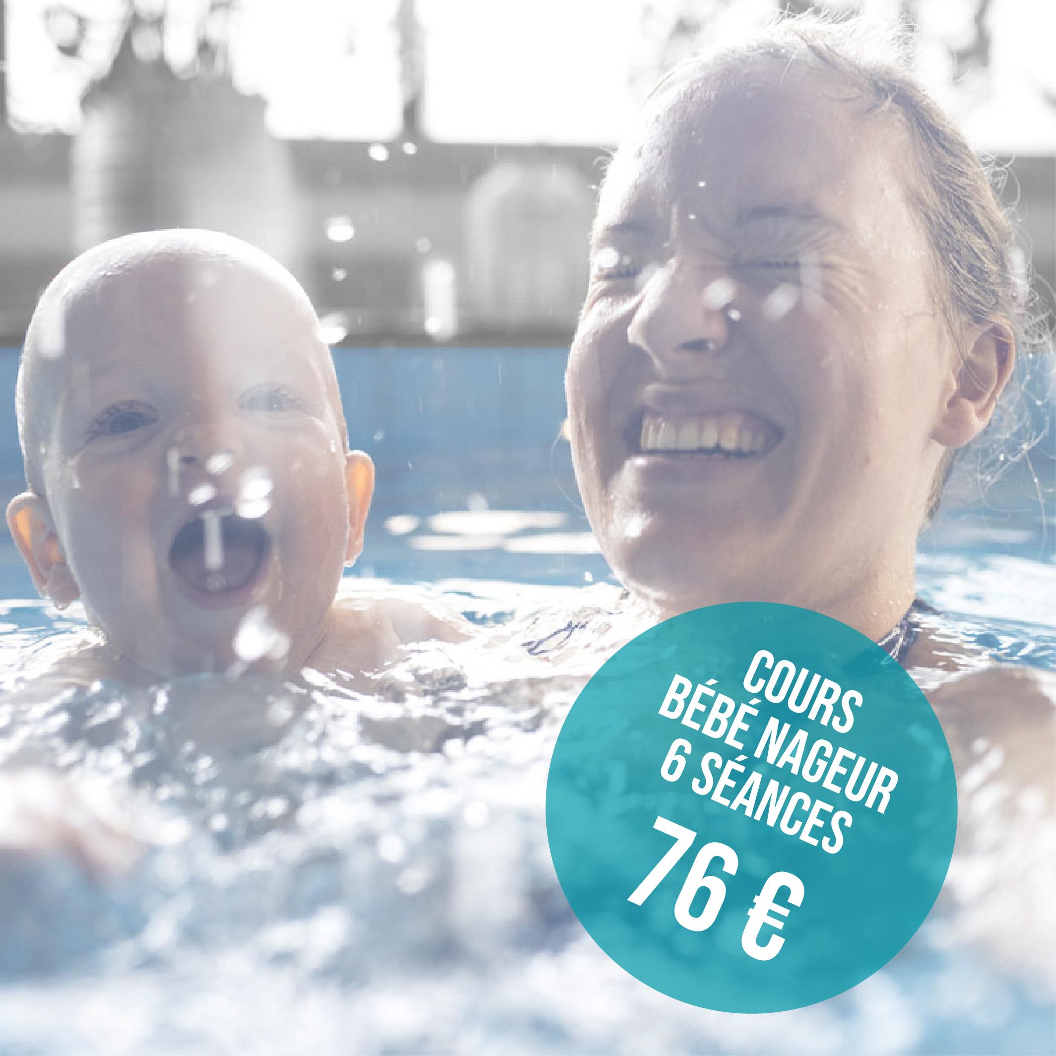 tarif bébé nageur 6 séances