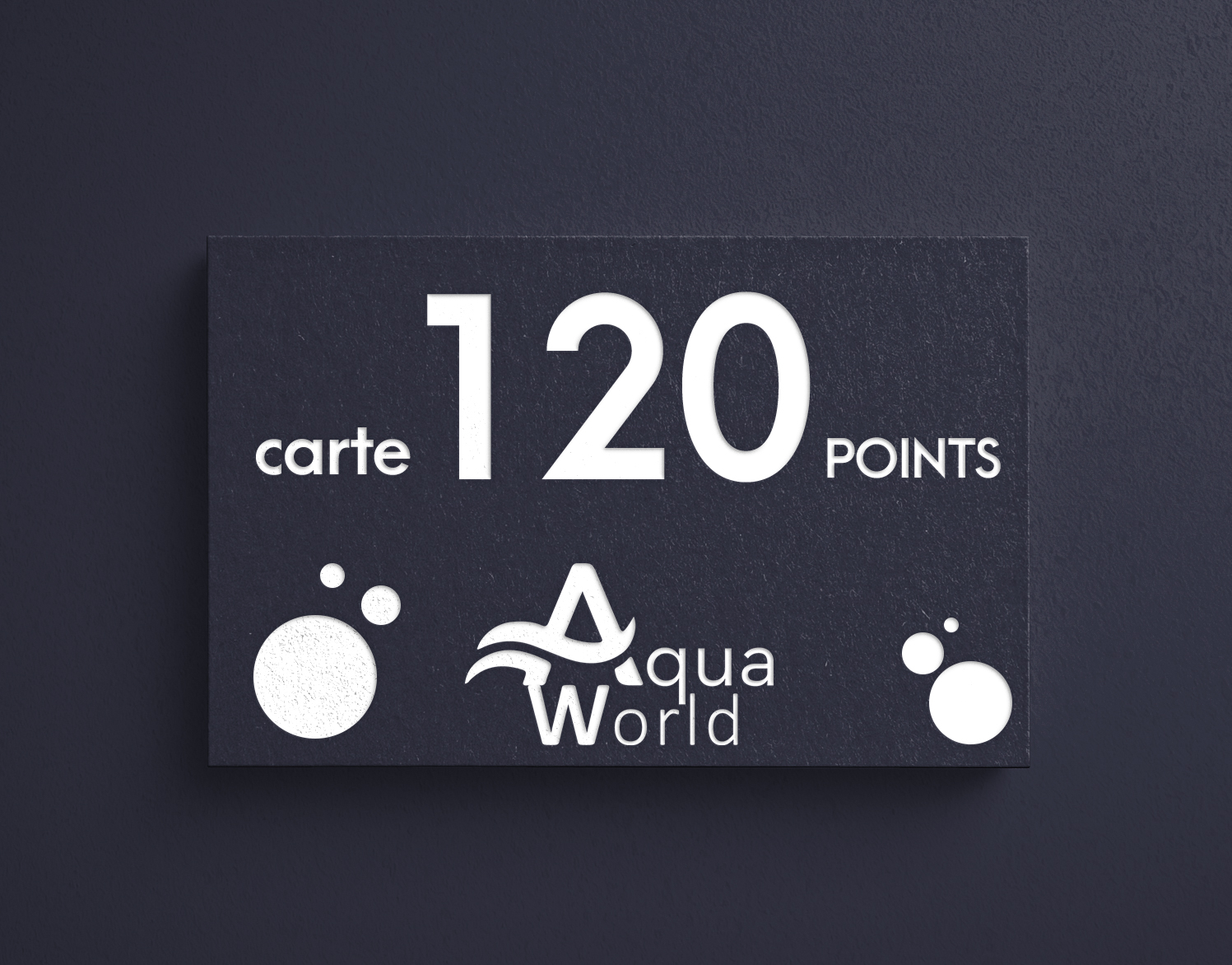 carte 120 points aquaworld
