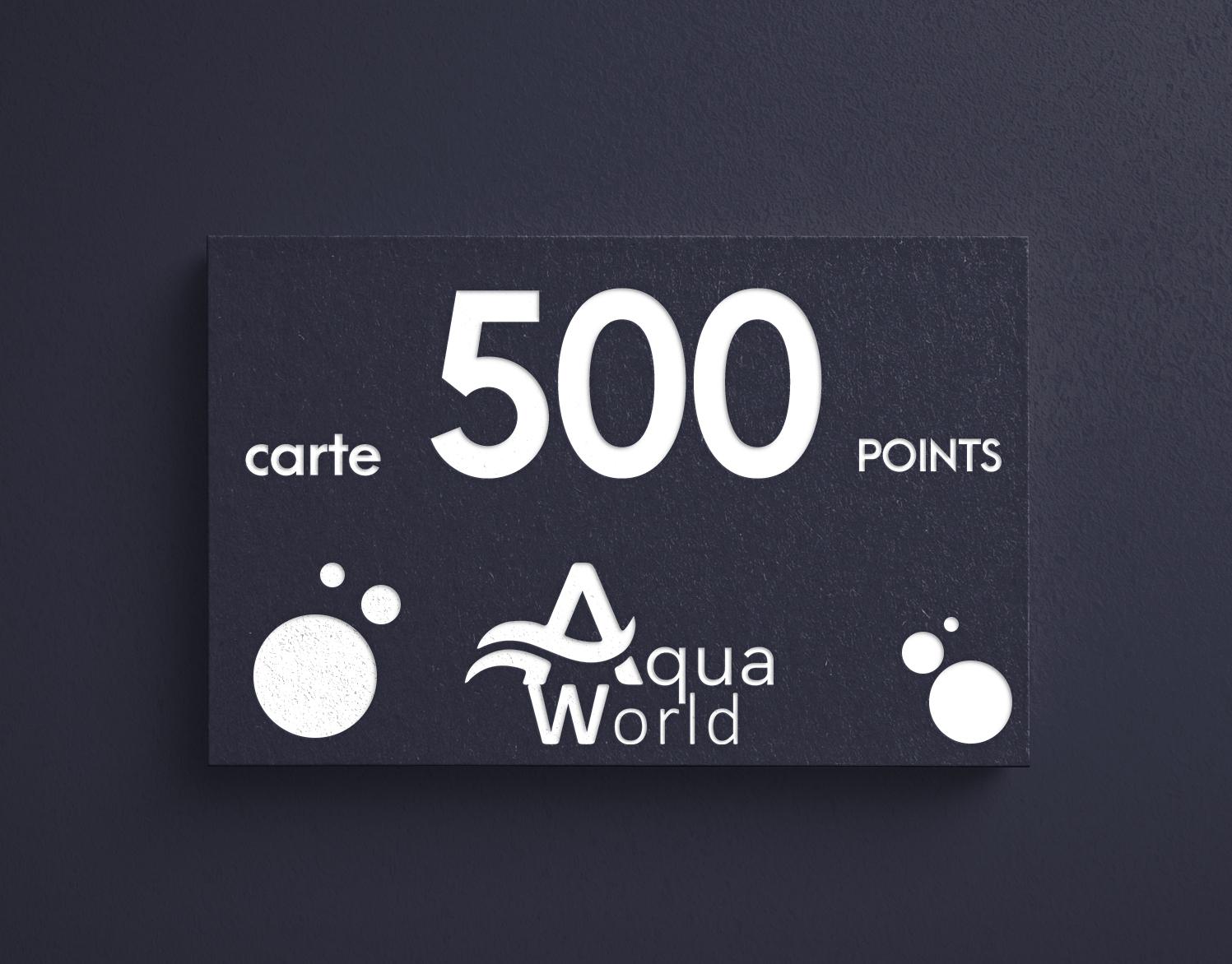 carte 500 points aquaworld