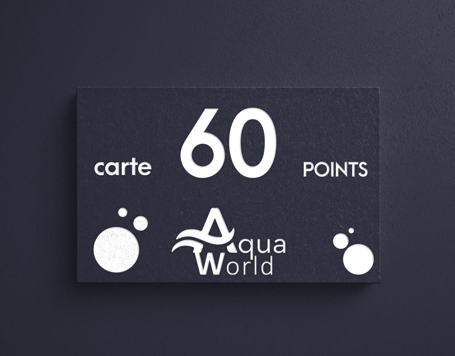 carte 60 points aquaworld